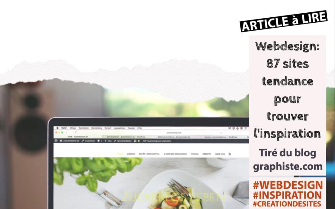 Sélection d'article : Web design 87 sites web tendances et au concept original