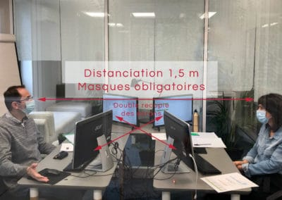 Distanciation 1,5m minimum